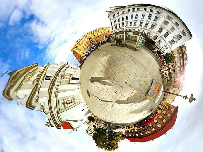 Architecture Built Structure Cityscape Cloud - Sky Church 360 Googlecamera Google Karmeliterkirche Schwedenplatz View Kirche Theta Tiny Planet Iloveit Followme Follow4follow Mostaphamerei