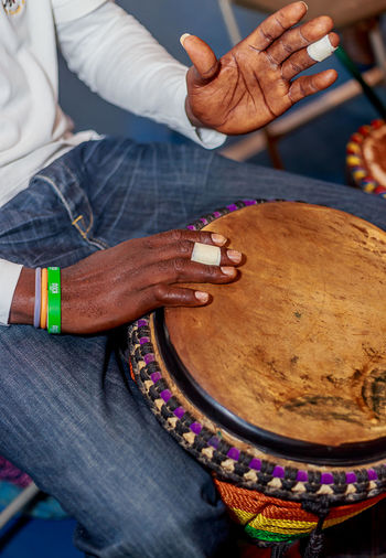 Drummer Human Hand Instrument Music Musician Only Men People Playing Tradition Travel Wood - Material