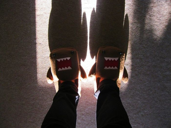 [ Domo ] All pumped up for treating the kids the D-Day 🎃✌🏼️Coolest slippers ever. 😆 Learn & Shoot: Single Light Source Halloween Shoes Japan Japanese  Slippers Winter Home At Home Feet