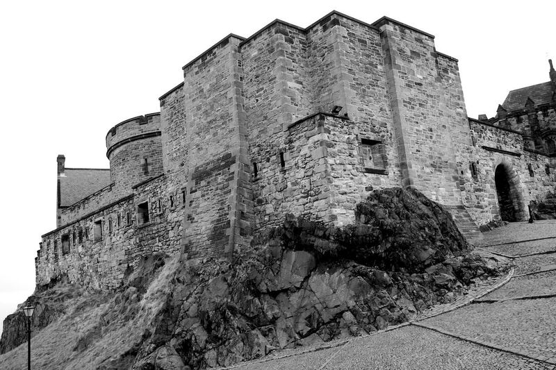 Edinburgh Castle Architecture Built Structure History The Past Building Exterior Old Ancient Building Fort Travel Destinations Wall - Building Feature Stone Wall Castle Black And White Blackandwhite