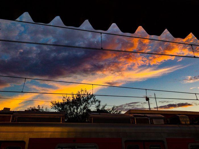 Céu e trem