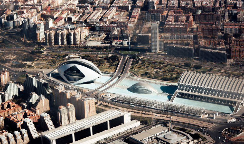 Aerial View Airplane Arial Building Exterior City Cityscape Day Dry Film Gold Hour Golden Heat High High Angle View Higher Places. Hot Orange SPAIN Stadium Summer Travel Destinations Urban Skyline View View From Above VSCO