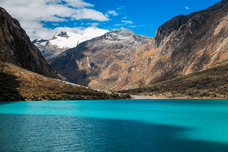 The landscapes from huascaran national park, near the city of huaraz - peru