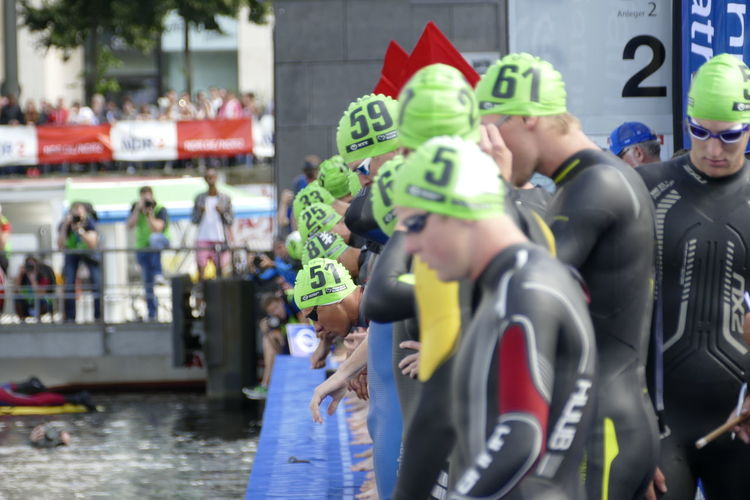 Binnenalster Competitive Sport Day Large Group Of People Men Outdoors Real People Sport Sports Photography Triathlete Triathletes TRIATHLON Triathlon Events TriathlonPhotography