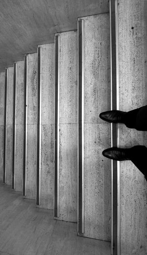 Time is out of joint Abstract Black And White Photography Black Shoes Experimental Feet Hamlet Human Body Part Human Leg Indoors  Minimalistic One Man Only One Person Out Of Joint Real People Shakespeare Surreal Time Time Out Wall Breathing Space EyeEm Ready   Stories From The City
