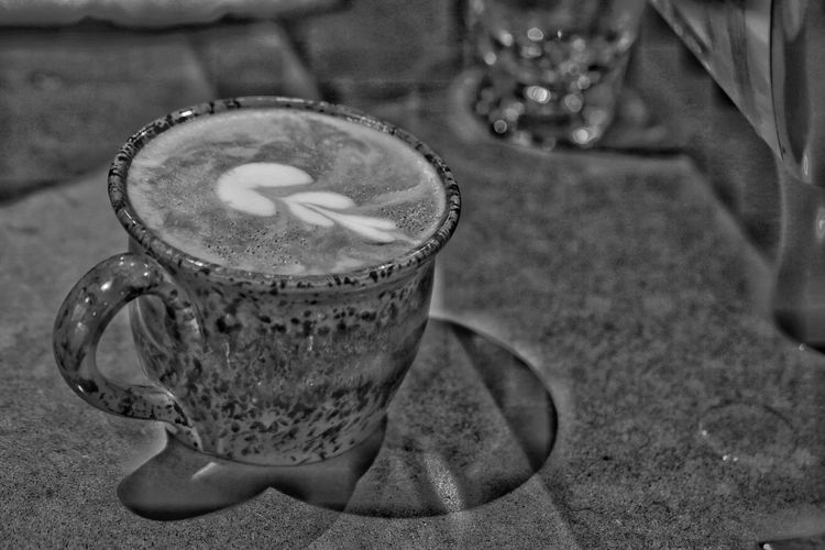 Drink Refreshment Food And Drink Indoors  Table Focus On Foreground Frothy Drink Coffee - Drink Close-up No People Drinking Glass Freshness Day Froth Art JGLowe