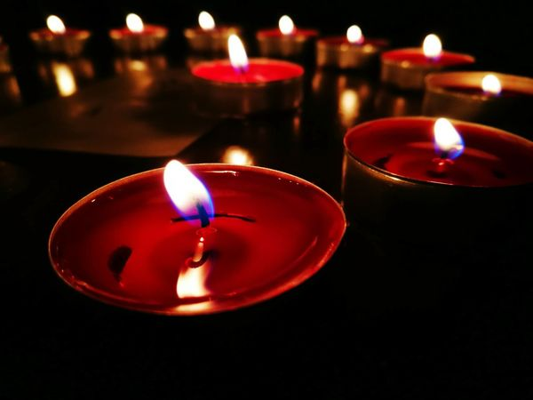 Candles.❤ Candle Flame Redcandle Beautiful Scenery Indoors  Illuminated Burning Fire - Natural Phenomenon