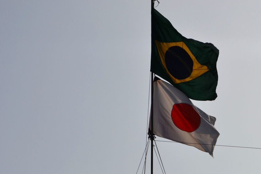 Brasil Japan Flags Flags In The Wind  Globe Countries Countries United Communities EyeEm Gallery