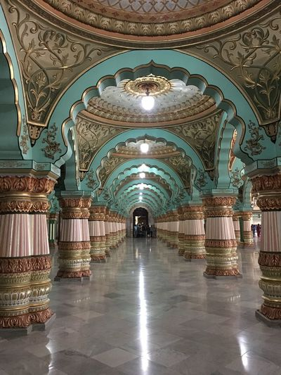#Incredible India #India #King #Mysore #palace #pillar #royal Arch Architecture Indoors  first eyeem photo