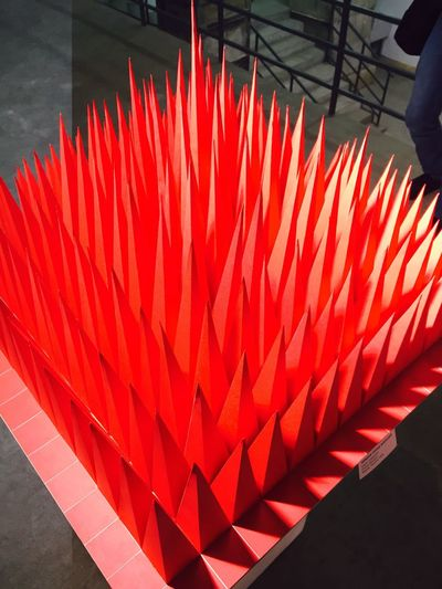 Exebithion Create Art Instalation Red