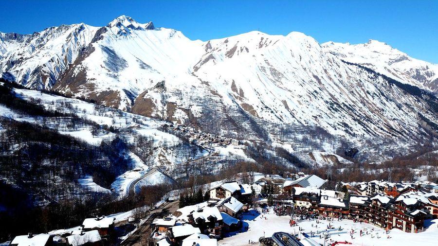 Mountain Snow Cold Temperature Winter Clear Sky Snowcapped Mountain Mountain Peak Sky Mountain Range Landscape