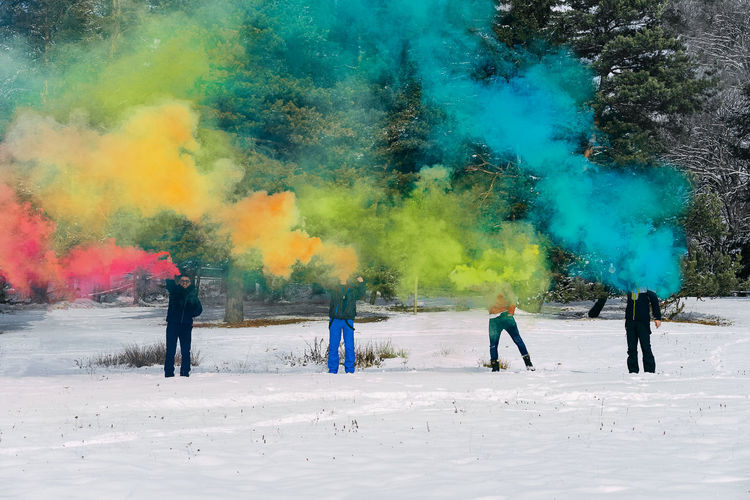 Men Leisure Activity Smoke Smoke - Physical Structure Smoke Bomb Rainbow Colors Winter Landscape Non-urban Scene Outdoors Cold Temperature Colors Colorful Colours Nature Young Men Friends Friendship People Real People Full Length Snow Togetherness Winter Sport Boys Multi Colored Fun Friend Wearing Male Friendship Moments Of Happiness 2018 In One Photograph #NotYourCliche Love Letter