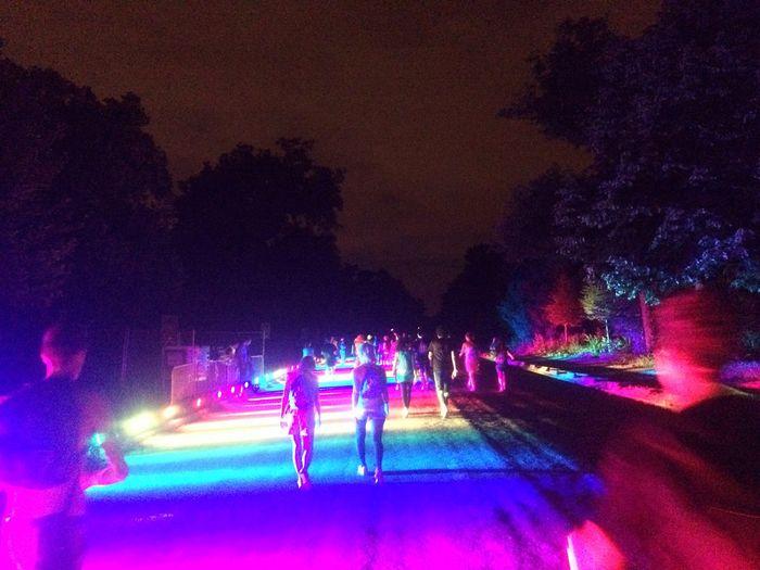Festival Run Electricrun Paris Music Light Colors Rainbow