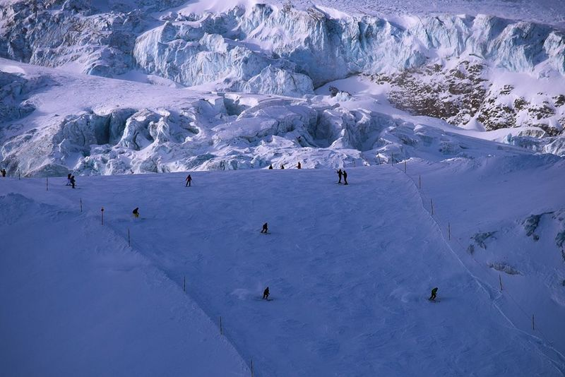 Ski slope with glacier in the back ground Mountains Snow Saasfee Snow Mountain Cold Temperature Winter People Nature Adventure Outdoors Vacations Scenics Polar Climate Snowcapped Mountain Landscape Day Travel Destinations Ski Holiday Beauty In Nature Sport Full Length Adult