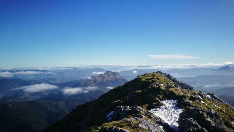 amboto #basque country Mountain Peak Pinaceae Sky Mountain Range Blue No People Summer Exploratorium