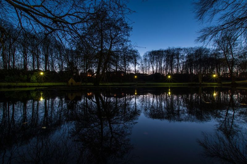 Denmark Hjørring Eye Em Nature Lover EyeEm Selects EyeEm Best Shots Reflection Tree Water Lake Nature Sky Beauty In Nature Outdoors Night Scenics Blue Tranquility No People
