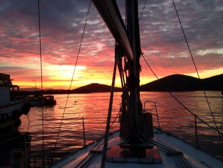 Sunset #sun #clouds #skylovers #sky #nature #beautifulinnature #naturalbeauty #photography #landscape Going Sailing Sailboat Sail Away, Sail Away