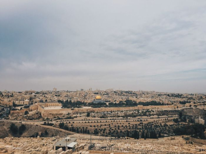 Jerusalem Israel View of the City from Mount Olive IPhoneography Travel Photography