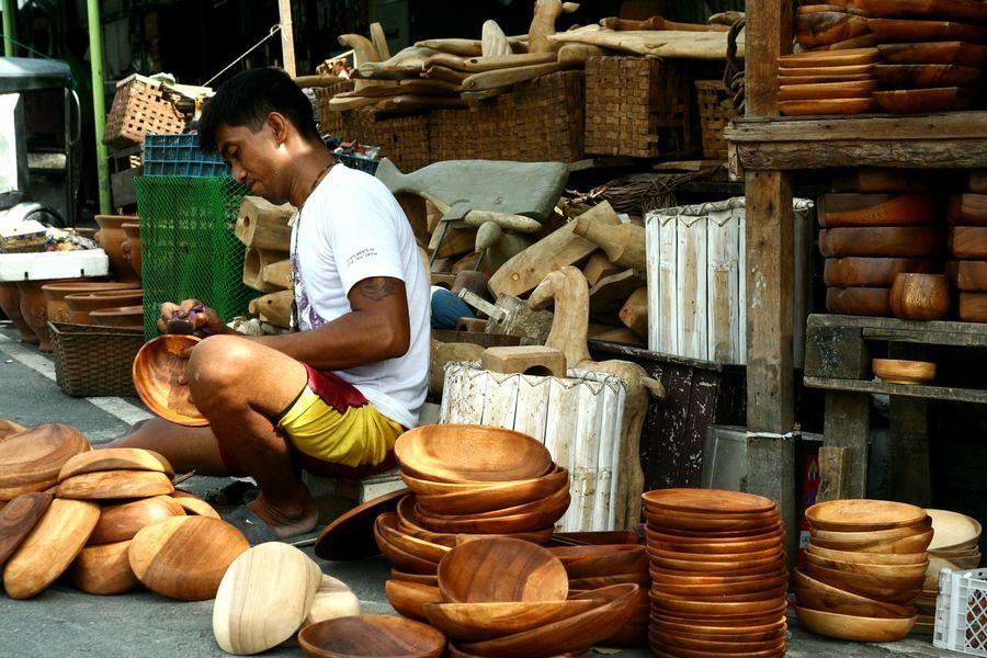 Wood carver Carvery Man Work