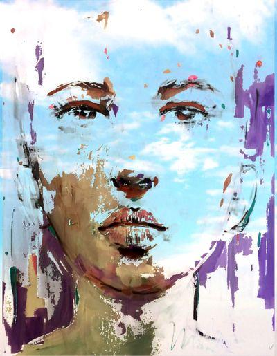 Kunst Streetart Peinture Portait Caroline Hulin Artiste