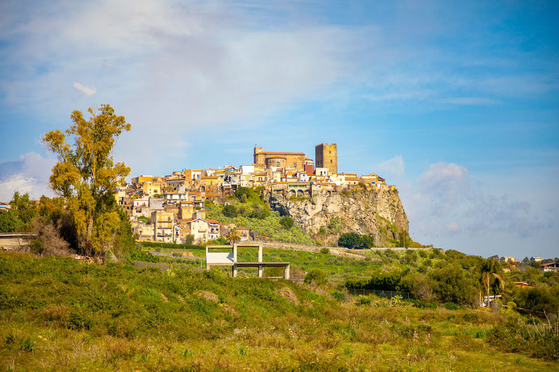 Italy Sicily Architecture Sky Built Structure Plant History Building Exterior Building The Past Nature Land Grass Tree Cloud - Sky Day Ancient Outdoors Old Green Color Growth Travel Destinations No People Ancient Civilization Ruined