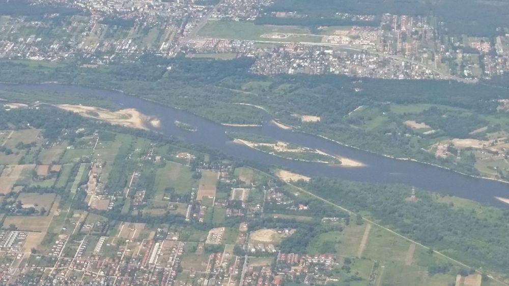 Weichsel Polska Vistula Vistula River Airplainview