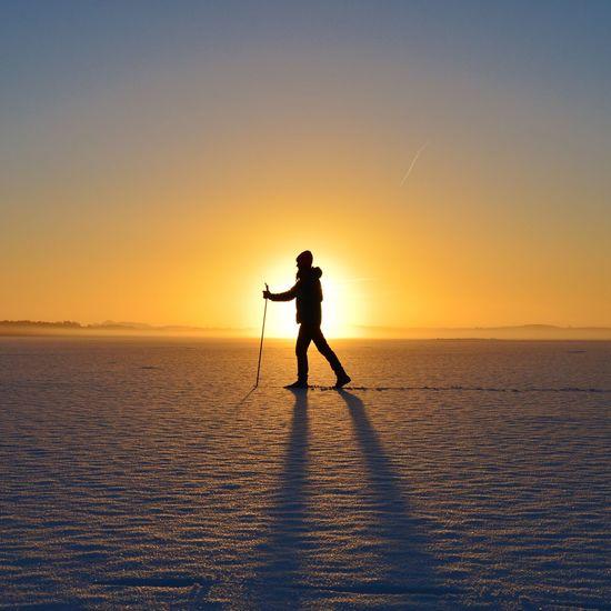 Sunset Outdoors Nature Xcskiing Sweden Nikon Nikond3300 Snow Shades Of Winter