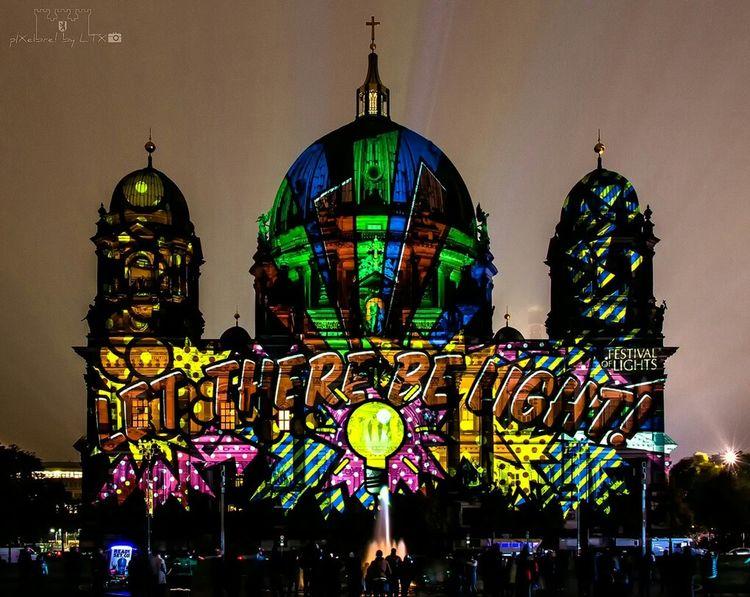 When you feel like the days are the darkest... Berlin Berlin Mitte My Fuckin Berlin Berliner Ansichten Festival Of Lights Festival Of Lights 2015 Night Lights City Lights Nightphotography Architecture Illumination Church
