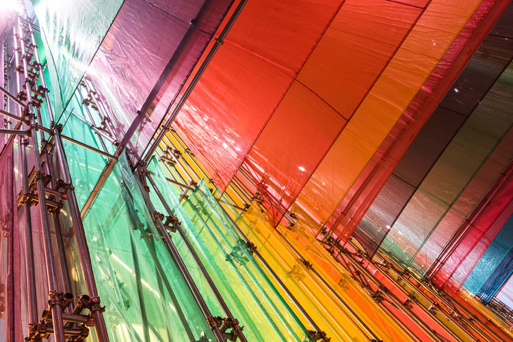 Architecture Art Built Structure Clourful Colours Day Design Diversity Exhibition Fabric Frames Instalation Light Light And Shadow Lightweight Material No People Space Steel Structure  EyeEm Diversity