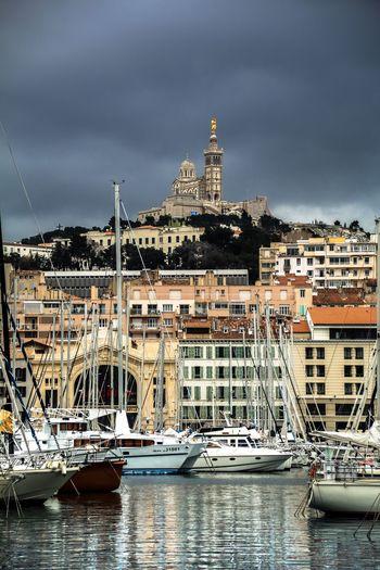 Marseille, France Architecture Sky Water Transportation Travel Destinations Outdoors Cloud - Sky City Sailboat Yacht No People Tourism Landmark