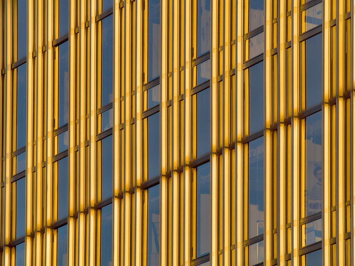 Full frame shot of yellow building