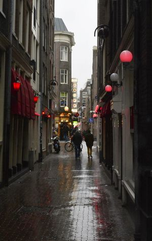 Architecture Building Exterior City City Street Lifestyles Red Light District Street Street Light Walking Your Amsterdam