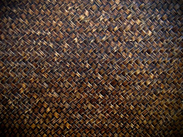 Handcraft weave texture natural wicker. Pattern Wood Strong Backdrop Craft Dark Brown Design ASIA Farm Fasten Fiber Gain Handmade Leaf Material Brown Textured  Nature Abstract Backgrounds Indoors  Wall Nopeople Close-up