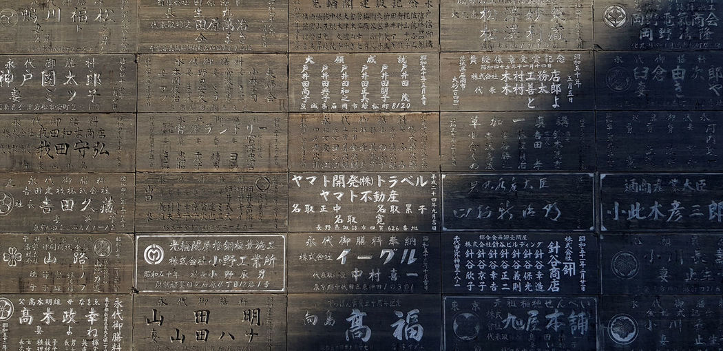 Full frame shot of text on wall
