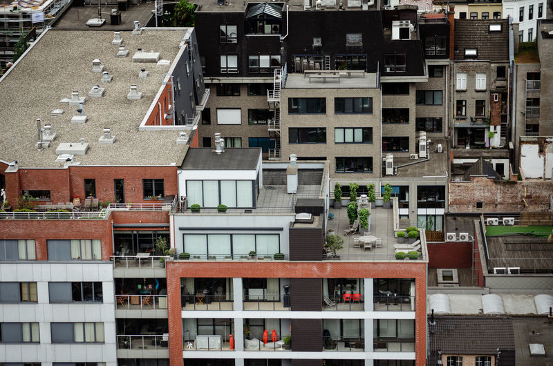 House with a tessase on rooftop, Antwerpern from above Architecture Building Exterior Building Residential District Window City No People House Apartment Roof High Angle View Housing Development Community Rooftop Terrasse Balcony Residential Building Belgium Antwerpen From Above  Built Structure