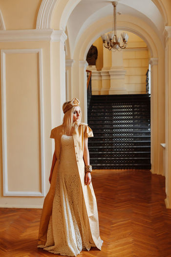 Crown Fashion Princess Shopping Wedding Architecture Clothes Day Full Length Indoors  People Russian Style Store