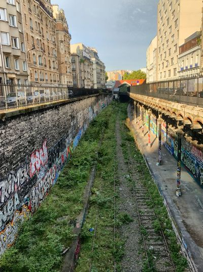 Architecture Built Structure Building Exterior City Canal Sky Outdoors Day Bridge - Man Made Structure The Way Forward Residential Building No People Retaining Wall Water Footbridge Disusedrailways Disused Railway Street Art/Graffiti Street Art Photography Streetart