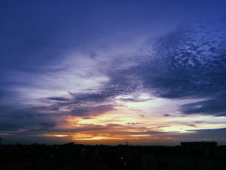 Astronomy Sunset Multi Colored Blue Horizon Atmospheric Mood Sky Only Cloudscape Dramatic Sky