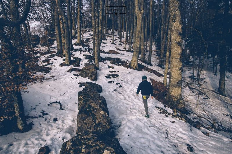 EyeEm Selects Snow Winter Cold Temperature Weather One Person Full Length Day Vacations Outdoors Nature Frozen Leisure Activity One Man Only Adventure Real People Men People Only Men Lifestyles Adult Santuary Arezzo, Italy EyeEm Best Shots