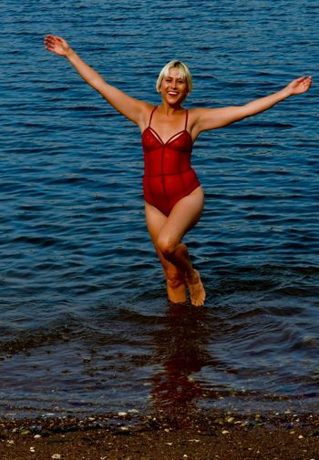 Erica B Water One Person Human Arm Leisure Activity Blond Hair Real People Full Length