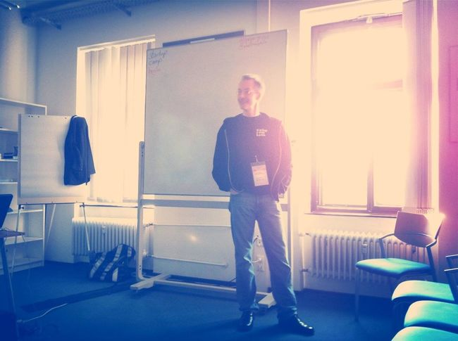 le chef of #scb12 himself giving insights at Startup Camp 2012 Le Chef Of #scb12 Himself Giving Insights