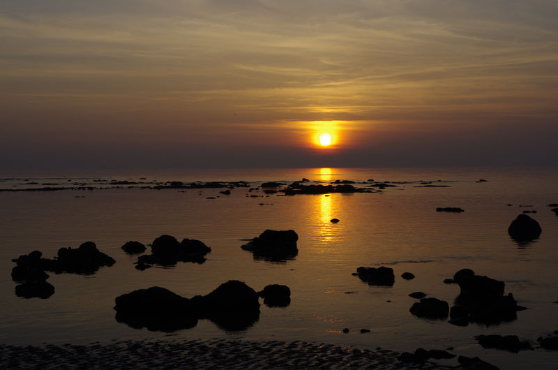 Beach Beauty In Nature Cloud - Sky Cumbria Day Dramatic Sky Horizon Over Water Idyllic Maryport Maryport, Cumbria Nature No People Outdoors Reflection Scenics Sea Seascape Sky Sun Sunset Sunset_collection Tranquility Travel Travel Destinations Water