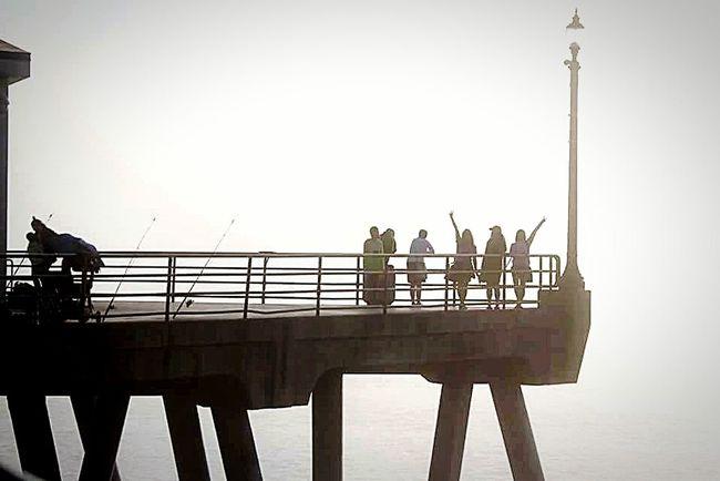Taking Photos Hello World Vacation Enjoying Life Streamzoofamily Baywatch Tadaa Community Huntington Beach Black & White