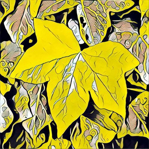 Art Art And Craft Close-up Colorful Creativity Flying Full Frame Multi Colored No People Prisma Prisma App Vibrant Color Yellow Yellow Color