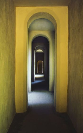 Inside. Gallery Seville Arch Loggia Yellow Perspectives Architecture_collection Historical Place World Heritage Alcazar