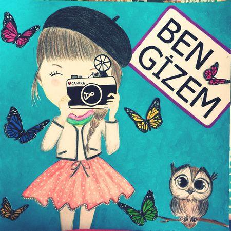 Illüstrasyon çalışmam.. Baykuş Kelebek Illustration Fotoğrafçı