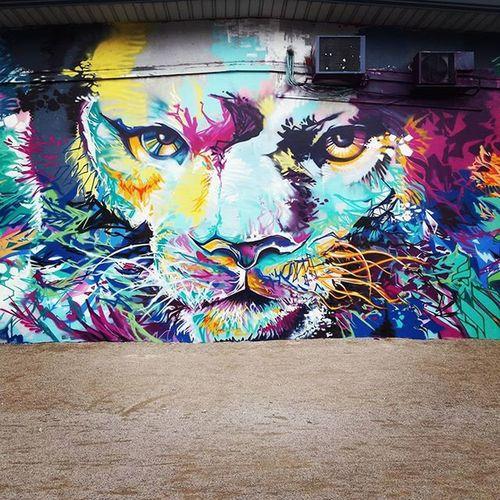 Grafitti Grenoble Lion Kingfeeling