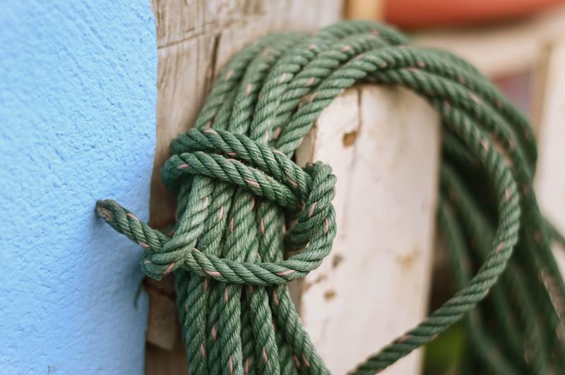 Green Rope String Braided Close-up Closeup Cord Day Dry Equipment Green Color Lasso No People Outdoors Rope Strength Thread Tied Knot Tied Up Tool