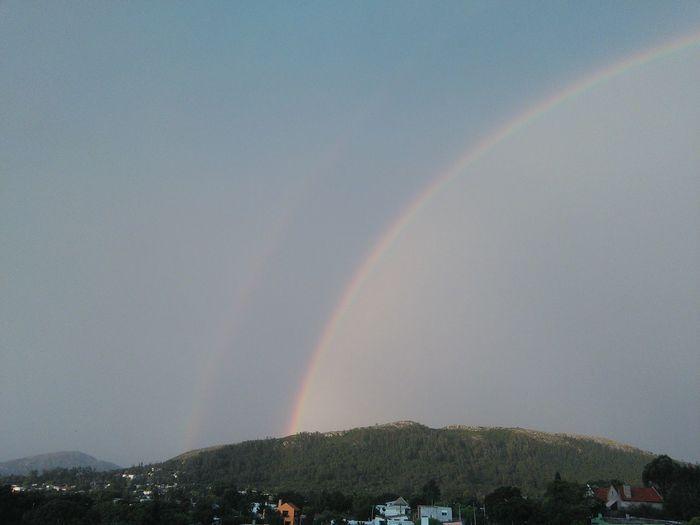 Rainbow Double Rainbow Spectrum Outdoors Day No People Scenics