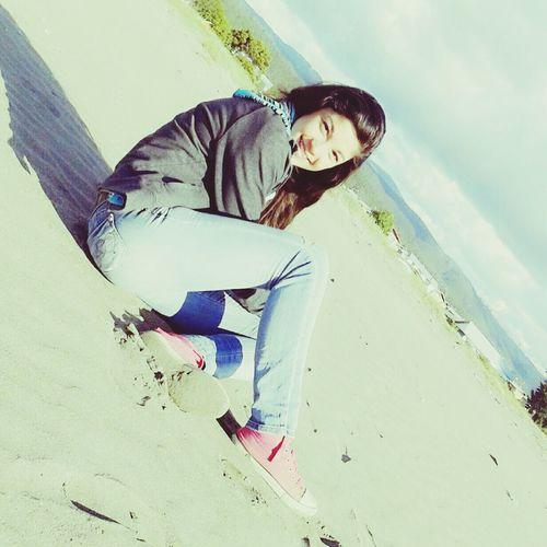 Bonita Pelo Sol Playa En La Arena Sol Bajo La Mirada♥ #instaChile♡